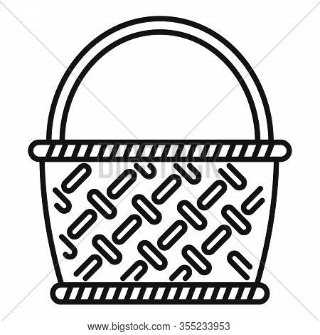 Bamboo Wicker Icon. Outline Bamboo Wicker Vector Icon For Web Design Isolated On White Background