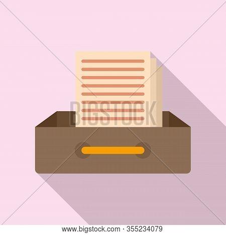 Request Archive Folder Icon. Flat Illustration Of Request Archive Folder Vector Icon For Web Design