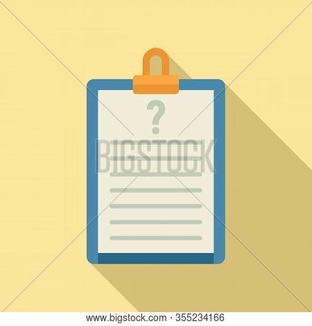 Request Checkboard Icon. Flat Illustration Of Request Checkboard Vector Icon For Web Design