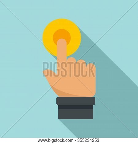 Request Touch Finger Icon. Flat Illustration Of Request Touch Finger Vector Icon For Web Design