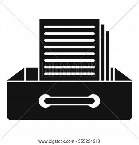 Request Archive Folder Icon. Simple Illustration Of Request Archive Folder Vector Icon For Web Desig