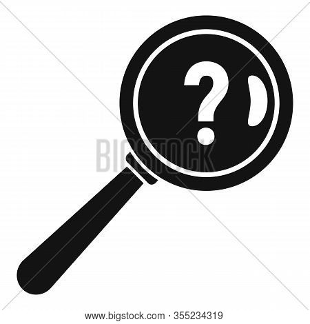 Request Magnifier Question Icon. Simple Illustration Of Request Magnifier Question Vector Icon For W