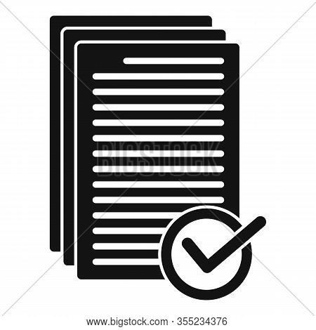 Receive Approved Documents Icon. Simple Illustration Of Receive Approved Documents Vector Icon For W