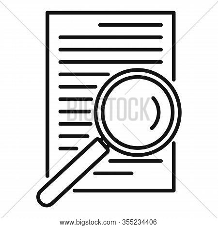 Paper Office Request Icon. Outline Paper Office Request Vector Icon For Web Design Isolated On White