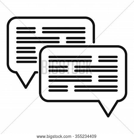 Chat Request Icon. Outline Chat Request Vector Icon For Web Design Isolated On White Background