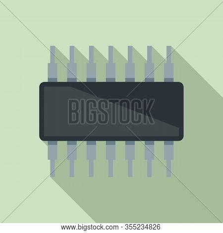 Phone Transistor Icon. Flat Illustration Of Phone Transistor Vector Icon For Web Design