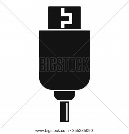 Phone Usb Cable Icon. Simple Illustration Of Phone Usb Cable Vector Icon For Web Design Isolated On