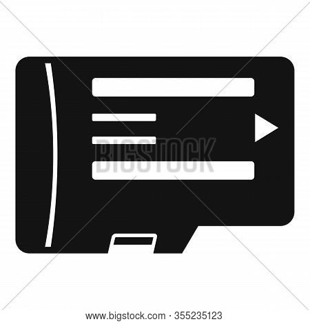 Phone Micro Sd Card Icon. Simple Illustration Of Phone Micro Sd Card Vector Icon For Web Design Isol