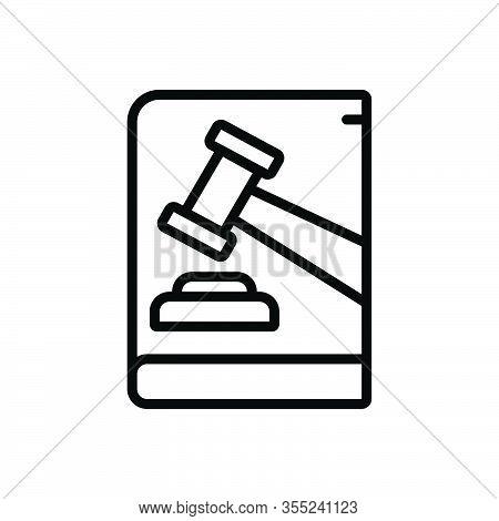 Black Line Icon For Law Enactment Lawmaking Authority Judge Legal Hammer Judgement Justice Verdict