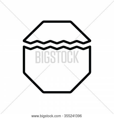 Black Line Icon For Part Portion Piece Division Share Slice