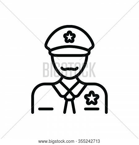Black Line Icon For Officer Commissary Bureaucrat Magistrate Gentleman Officeholder Dignitary