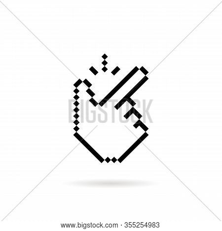 Pixel Art Snap Finger Like Easy Icon. Flat 8 Bit Style Trend Modern Simple Easily Logotype Graphic P