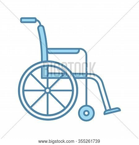 Wheelchair Color Icon. Invalid Chair. Wheel Chair. Disability. Handicap Equipment. Mobility Aid. Iso