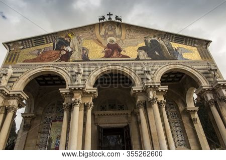 Jerusalem, Israel January 30, 2020:the Church Of All Nations, Also Known As The Church Of The Agony,
