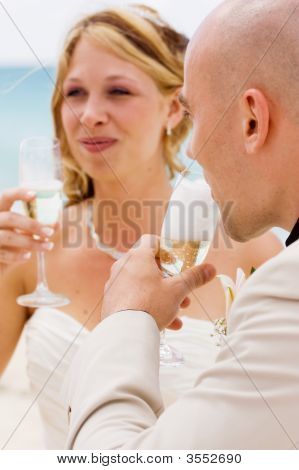 Groom Looking At Wife