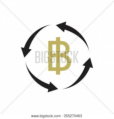 Thai Baht Currency Icon Vector Illustration Design Template