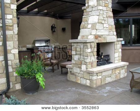 Chimenea patio