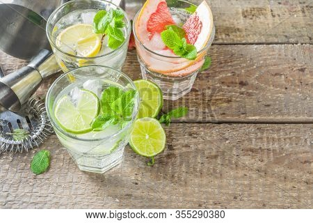 Citrus Fruit Drinks With Ice