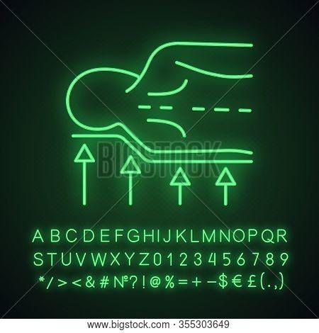 Orthopedic Mattress Neon Light Icon. Anatomic Memory Foam Mattress. Orthopedic Spine Support. Correc