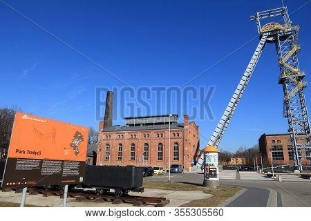 Siemianowice Slaskie, Poland - March 9, 2015: Industrial Heritage Park In Siemianowice Slaskie, Pola