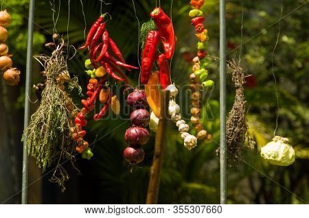 Vegetable Exhibition On A Barbecue Known As Parrilla. Typical Barbecue From The South Of Latin Ameri
