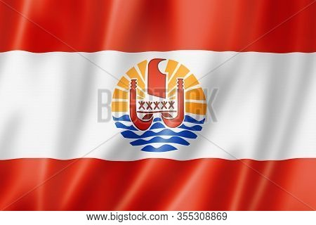 French Polynesia Flag, Overseas Territories Of France. 3d Illustration
