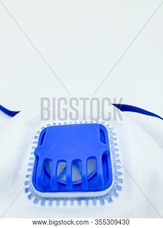 Medical Mask, Prevention Of Influenza. Protective Mask For Health Care Use On White Background. Medi