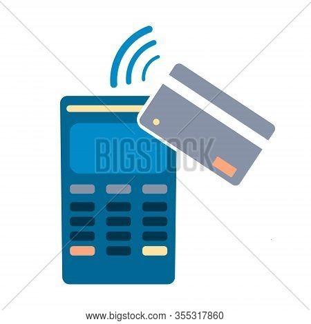 Credit Card Nfc Payment Concept. Nfc Technology.. Nfc Technology. Eps10 Vector Illustration.