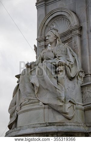 London, United Kingdom, March 8th 2020:- The Queen Victoria Memorial Outside Buckingham Palace