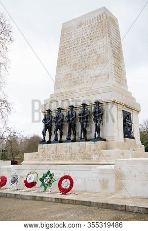 London, United Kingdom, March 8th 2020:- The Guards Memorial Opposite Horse Guards Parade London