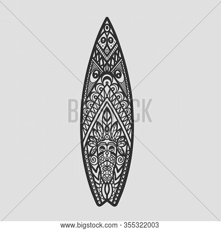 Surf Board Ornament Graphic Surfing Hawaii Board