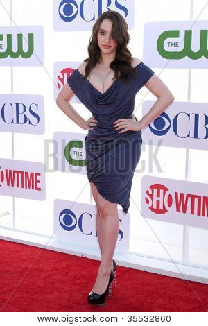 LOS ANGELES - JUL 29:  Kat Dennings arrives at the CBS, CW, and Showtime 2012 Summer TCA party at Beverly Hilton Hotel Adjacent Parking Lot on July 29, 2012 in Beverly Hills, CA