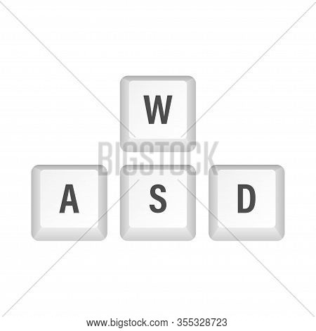 Wasd Computer Keyboard Buttons. Desktop Interface. Web Icon. Gaming And Cybersport. Vector Stock Ill