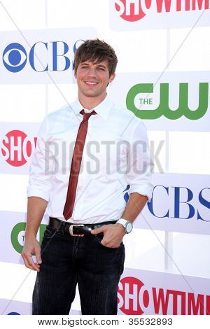 LOS ANGELES - JUL 29:  Matt Lanter arrives at the CBS, CW, and Showtime 2012 Summer TCA party at Beverly Hilton Hotel Adjacent Parking Lot on July 29, 2012 in Beverly Hills, CA