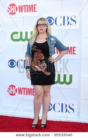 LOS ANGELES - JUL 29:  Kirsten Vangsness arrives at the CBS, CW, and Showtime 2012 Summer TCA party at Beverly Hilton Hotel Adjacent Parking Lot on July 29, 2012 in Beverly Hills, CA