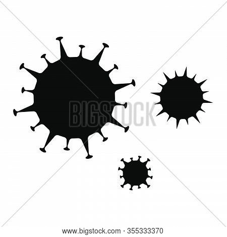 Corona Virus. Abstract Vector Microbe On White Background. Computer Virus, Allergy Bacteria, Medical