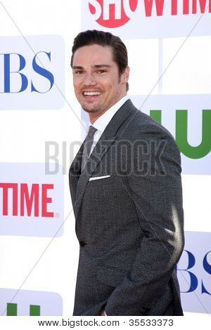 LOS ANGELES - JUL 29:  Jay Ryan arrives at the CBS, CW, and Showtime 2012 Summer TCA party at Beverly Hilton Hotel Adjacent Parking Lot on July 29, 2012 in Beverly Hills, CA