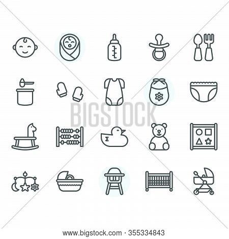 Baby Related Icon And Symbol Set.vector And Illustration