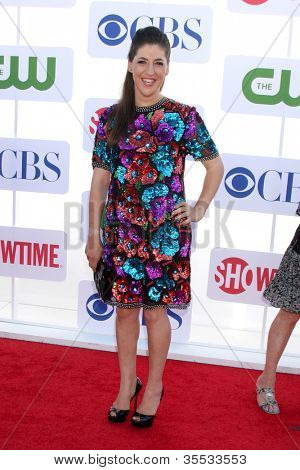 LOS ANGELES - JUL 29:  Mayim Bialik arrives at the CBS, CW, and Showtime 2012 Summer TCA party at Beverly Hilton Hotel Adjacent Parking Lot on July 29, 2012 in Beverly Hills, CA