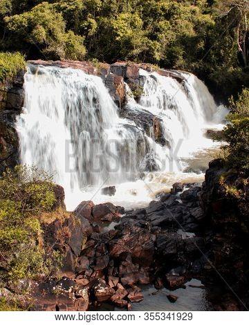 Waterfall In The City Of Poços De Caldas In Minas Gerais