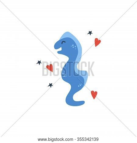Vector Handdrawn Cute Illustration Of Moray On The White Background. Concept For Kids Design, Cute C