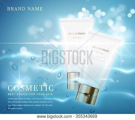 Cosmetic Bottles_water Liquid Blue 02