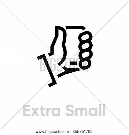 Tech Specs Extra Small Phone Icon. Editable Line Vector.