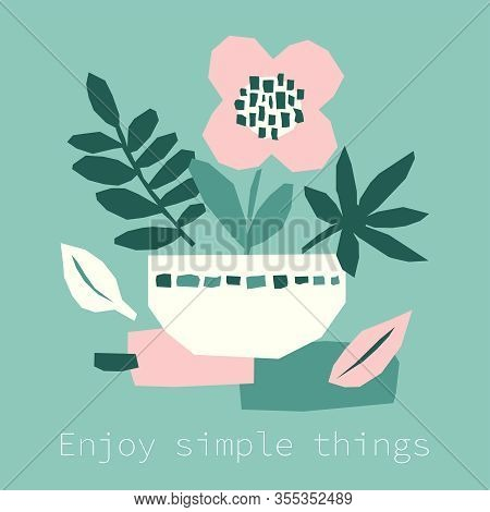 Every Day Motivation As Creative Trendy Abstract Paper Cut Out Collage Background For Social Media T