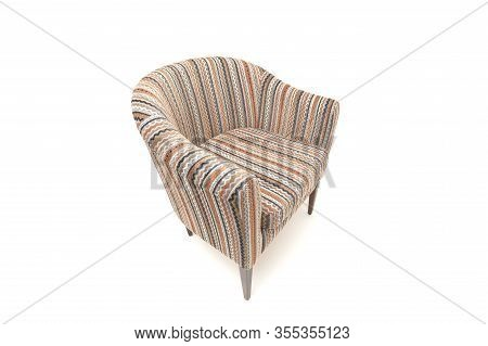 Classic Soft Chair. Isolated On White Background