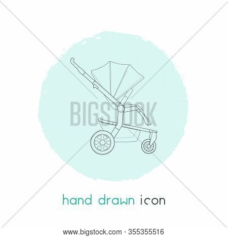 Stroller Icon Line Element. Illustration Of Stroller Icon Line Isolated On Clean Background For Your