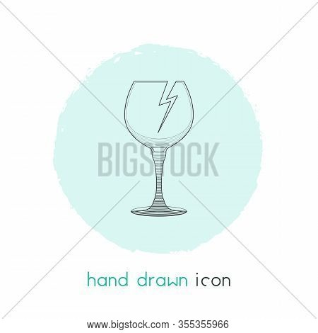 Fragile Sign Icon Line Element. Vector Illustration Of Fragile Sign Icon Line Isolated On Clean Back