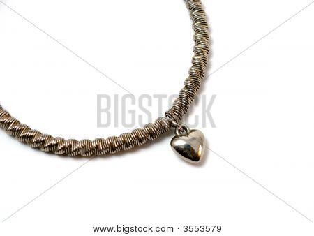 The Silver Bracelet Spring With Heart