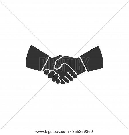 Handshake Icon In A Flat Design. Vector Illustration