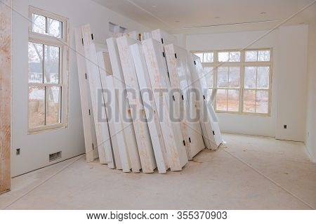 Reconstruction Door And Molding Process For Under Construction, Remodeling, Renovation, Extension Re